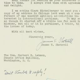 Letter : 1952 February 26