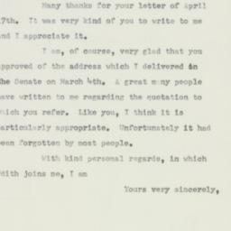 Letter : 1952 April 29