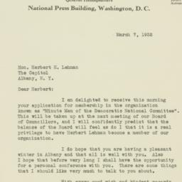 Letter : 1932 March 7
