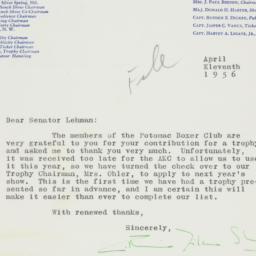 Letter : 1956 April 11