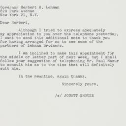 Letter : 1961 May 25
