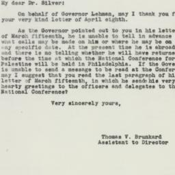 Letter : 1943 April 10