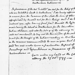 Document, 1799 October 29