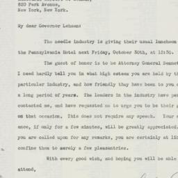 Letter : 1942 October 23