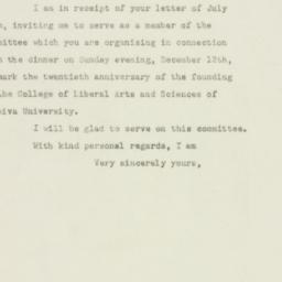 Letter : 1948 July 30