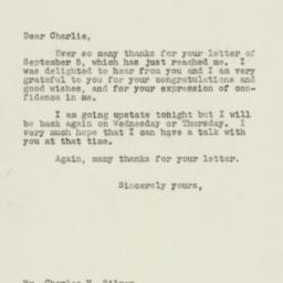 Letter : 1949 September 8