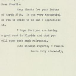 Letter : 1951 April 3