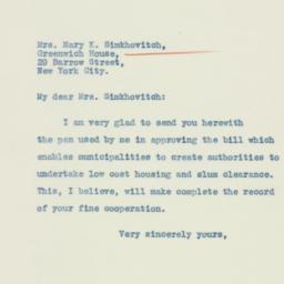 Letter: 1934 February 27