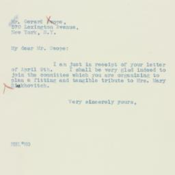 Letter : 1934 April 11