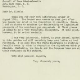 Letter : 1951 August 24