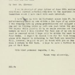 Letter : 1946 July 12