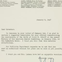 Letter : 1947 January 8