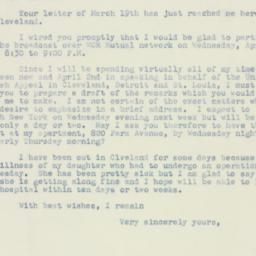 Letter : 1947 March 21