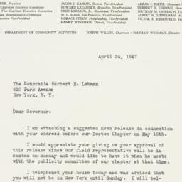 Letter : 1947 April 24