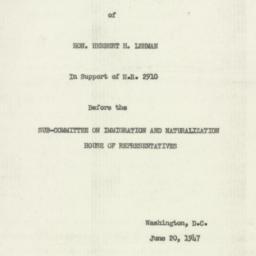 Manuscript: 1947 June 20