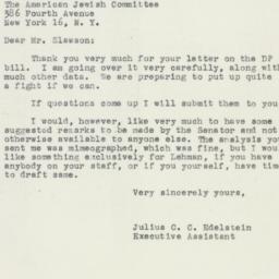 Letter : 1950 February 2