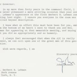 Letter : 1963 November 7