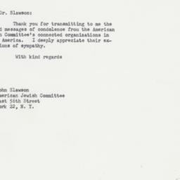 Letter : 1964 January 17