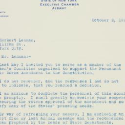 Letter: 1925 October 2