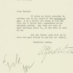 Letter: 1929 June 25