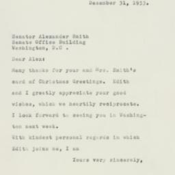 Letter : 1953 December 31