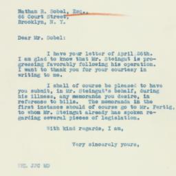 Letter : 1933 April 28