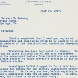 Letter : 1937 July 23
