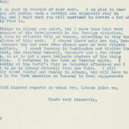 Letter : 1940 May 16