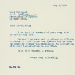 Letter : 1939 May 8