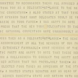 Telegram : 1960 June 24
