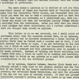 Letter : 1952 November 10