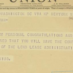 Telegram : 1942 November 23