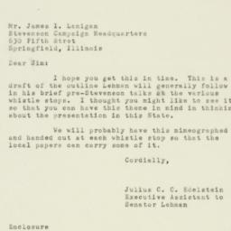 Letter : 1952 October 19