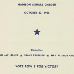 Ephemera : 1956 October 23