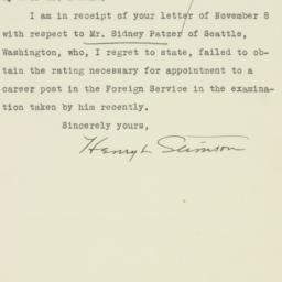 Letter : 1931 November 24