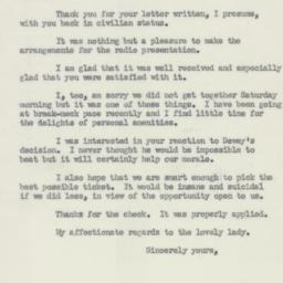 Letter : 1950 June 22