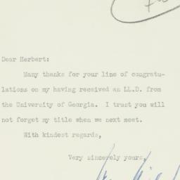 Letter : 1931 June 22