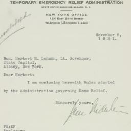 Letter : 1931 November 5