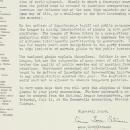 Letter : 1940 July 8