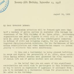 Letter : 1938 August 18