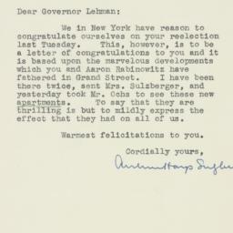 Letter : 1930 November 10
