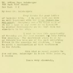 Letter : 1930 November 14