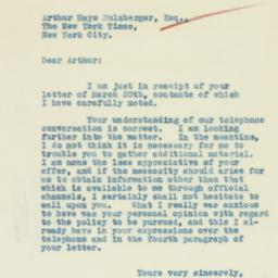 Letter : 1933 March 22