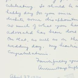 Letter : 1934 April 27