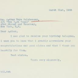 Letter : 1936 March 31