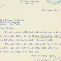 Letter : 1938 September 22
