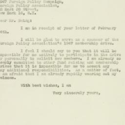 Letter: 1947 February 17