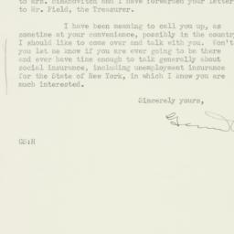 Letter : 1934 June 1