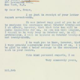 Letter : 1938 August 19