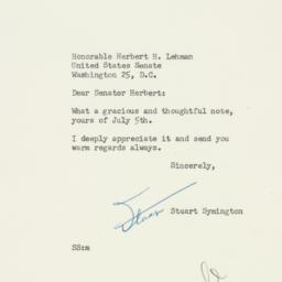 Letter: 1954 July 7